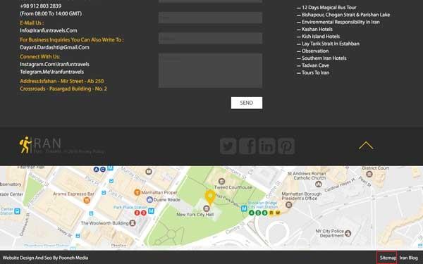 طراحی وب سایت ایران فان تراول