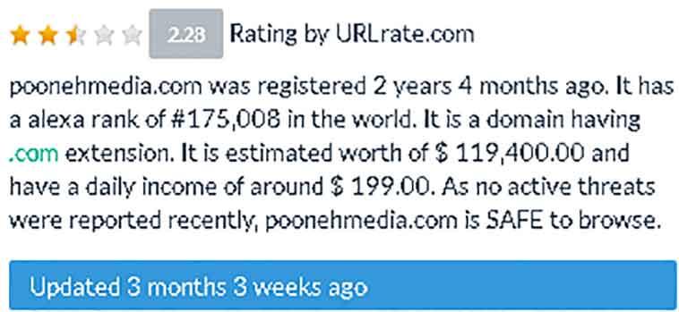 poonehmedia domain worth 1