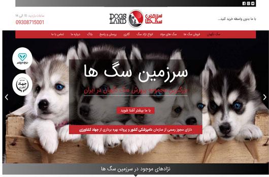 طراحی مججد سایت سرزمین سگ ها